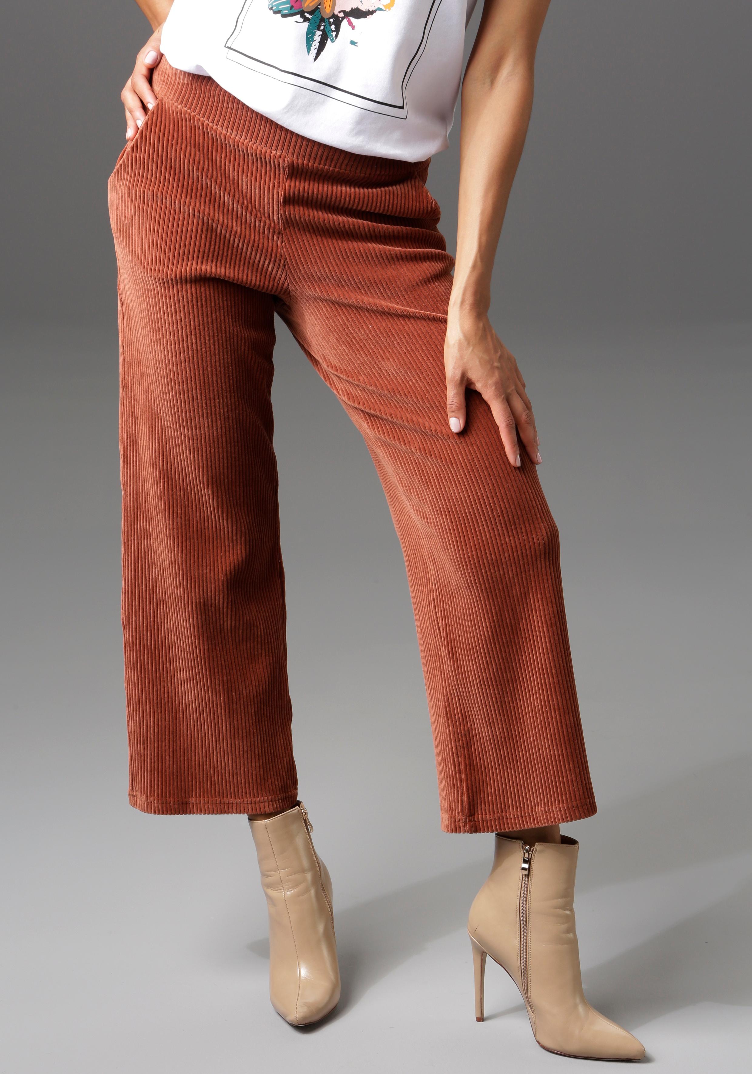 aniston casual -  Cordhose, in trendiger Culotte-Form