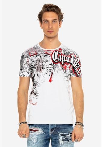 Cipo & Baxx T-Shirt, im lässigen Grafitti-Style kaufen