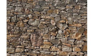 Komar Fototapete »Stone Wal«, bedruckt-Steinoptik-Steinoptik, ausgezeichnet lichtbeständig kaufen