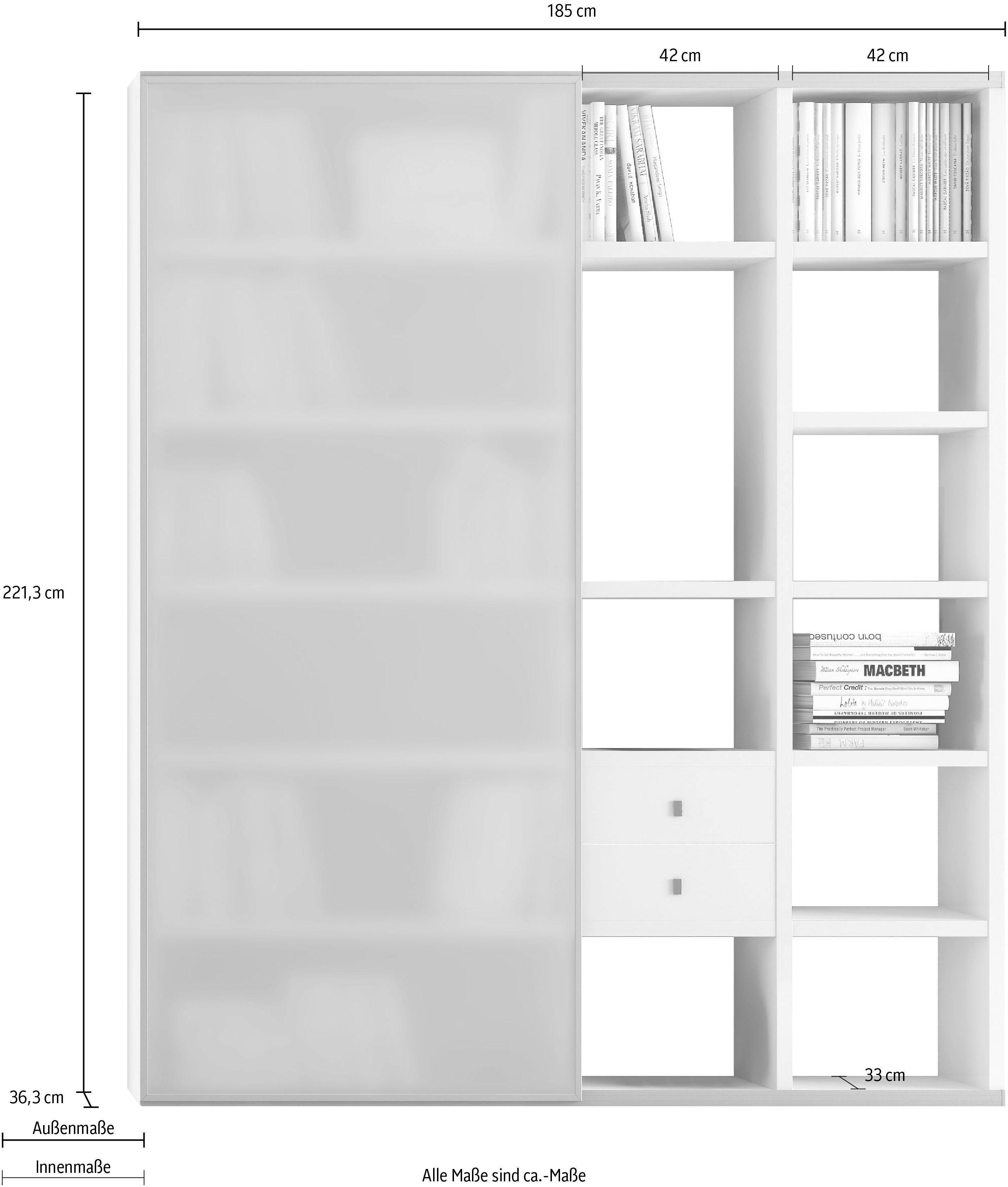 Standregal-Stand-Regal-Wohnen-Standregale-Regale-Made-In-Germany-Viel-Stauraum Indexbild 3