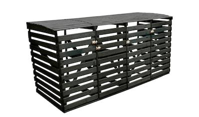 promadino Mülltonnenbox, für 4x240 l aus Holz, BxTxH: 268x92x122 cm kaufen