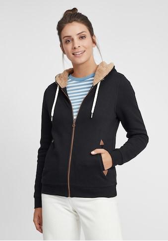 OXMO Kapuzensweatjacke »Vicky Pile Zip«, Sweatshirtjacke mit Teddyfutter kaufen