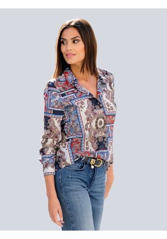 Alba Moda Druckbluse, mit exklusivem Dessin kaufen