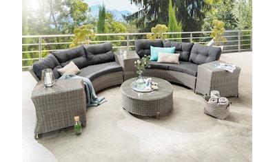 DESTINY Loungeset »RIO«, 14 - tlg., 2 3er - Sofas, Tisch Ø 90 cm, Polyrattan kaufen