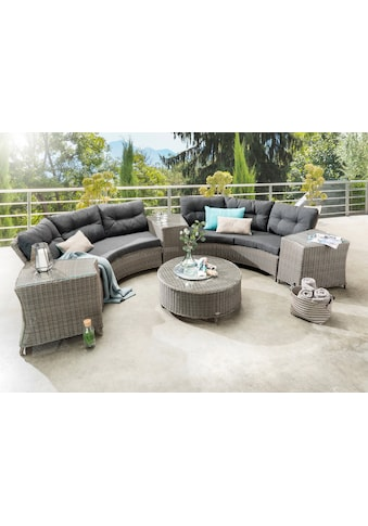 DESTINY Loungeset »RIO «, 14 - tlg., 2x3er - Sofa, Tisch Ø 90 cm, Polyrattan kaufen