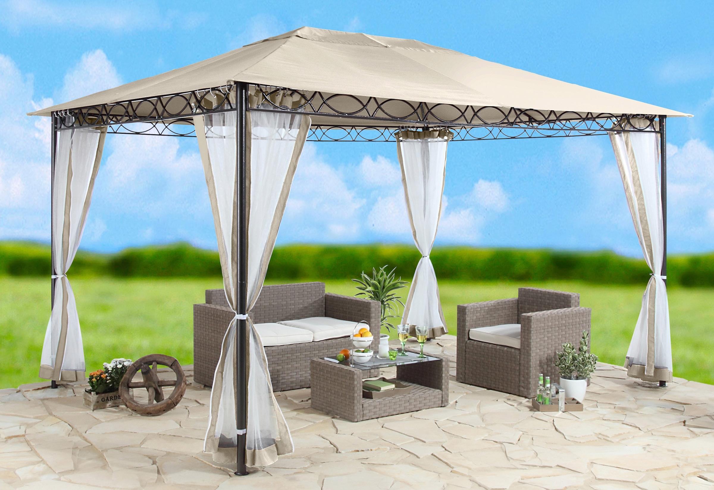 pavillon 3x4 mit seitenteile und moskitonetz pavillon seitenteile pavillon seitenw nde kaufen. Black Bedroom Furniture Sets. Home Design Ideas