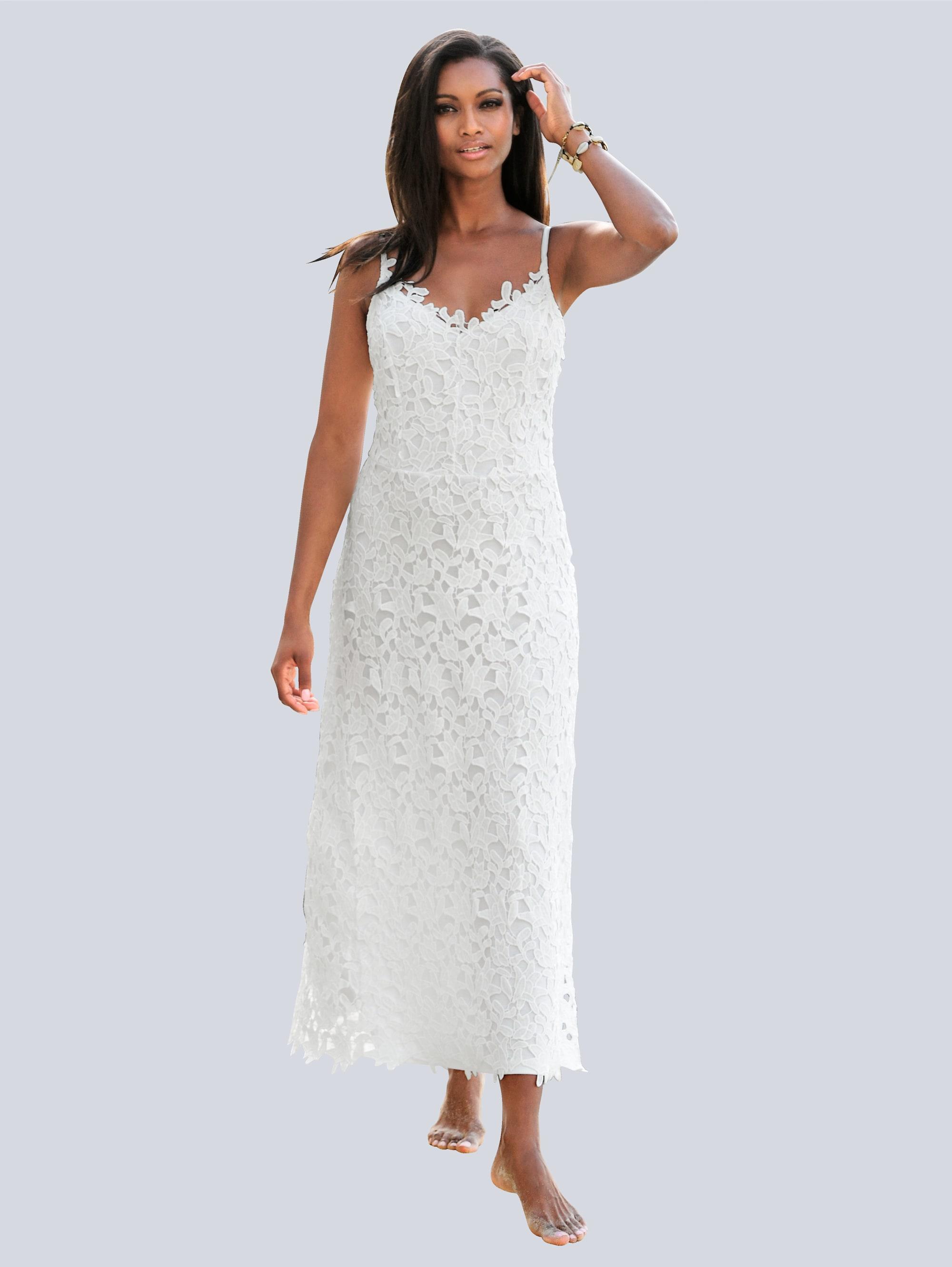 Alba Moda Strandkleid aus ausdrucksstarker Spitze | Bekleidung > Kleider > Strandkleider | Alba Moda