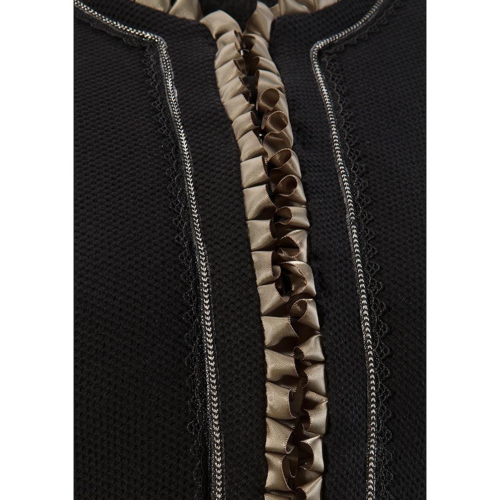 MarJo Trachtenblazer, mit Rüschen- und Bortenbesatz