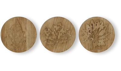 Art for the home Mehrteilige Bilder »Wood Leaves«, (Set, 3 St.) kaufen