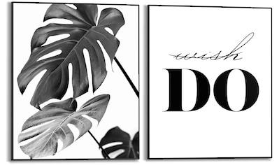 Reinders! Wandbild »Tun Zitat - Modern - Botanisch - Monstera«, (2 St.) kaufen
