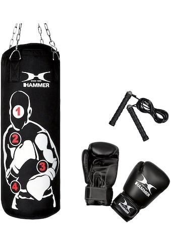 Hammer Boxsack »Sparring Pro« (Set, 3 - tlg., mit Boxhandschuhen, mit Sprungseil) kaufen