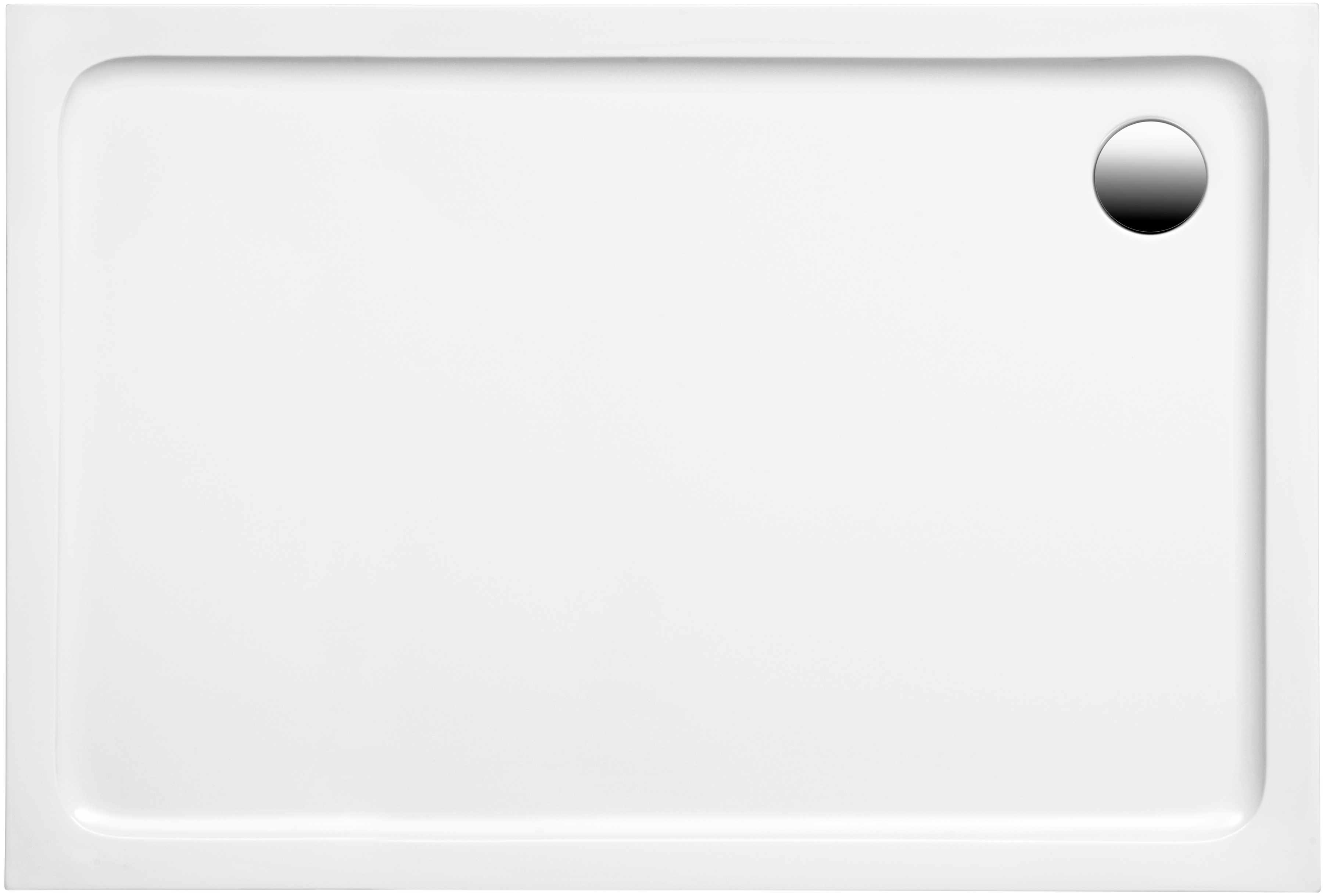 OTTOFOND Duschwanne Set Rechteckduschwanne, 1000x800/30 mm weiß Duschwannen Duschen Bad Sanitär