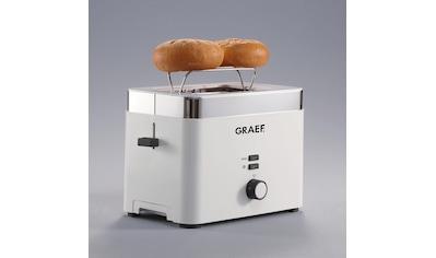 Graef Toaster »TO 61«, 2 kurze Schlitze, für 2 Scheiben, 888 W kaufen