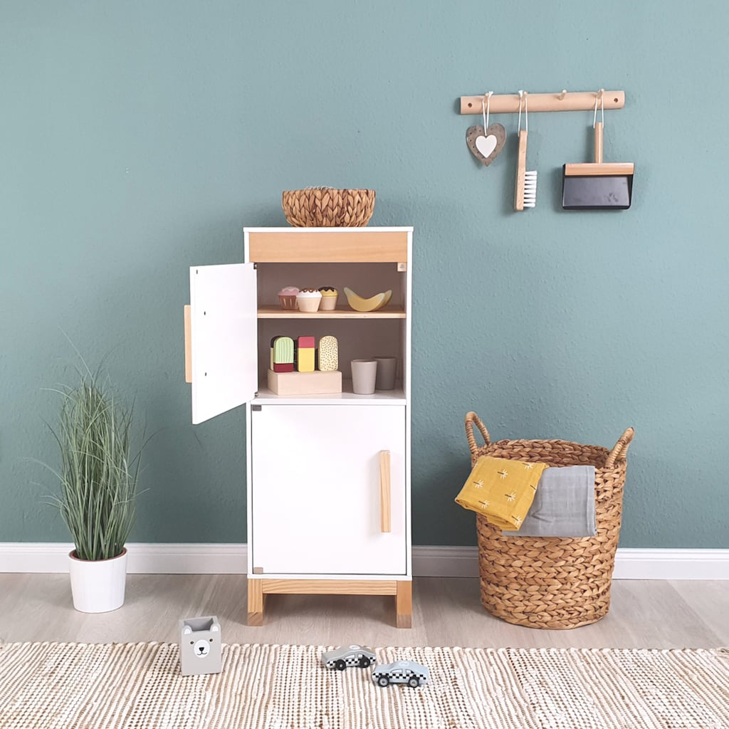 MUSTERKIND® Kinder-Kühlschrank »Ficus, weiß/natur«