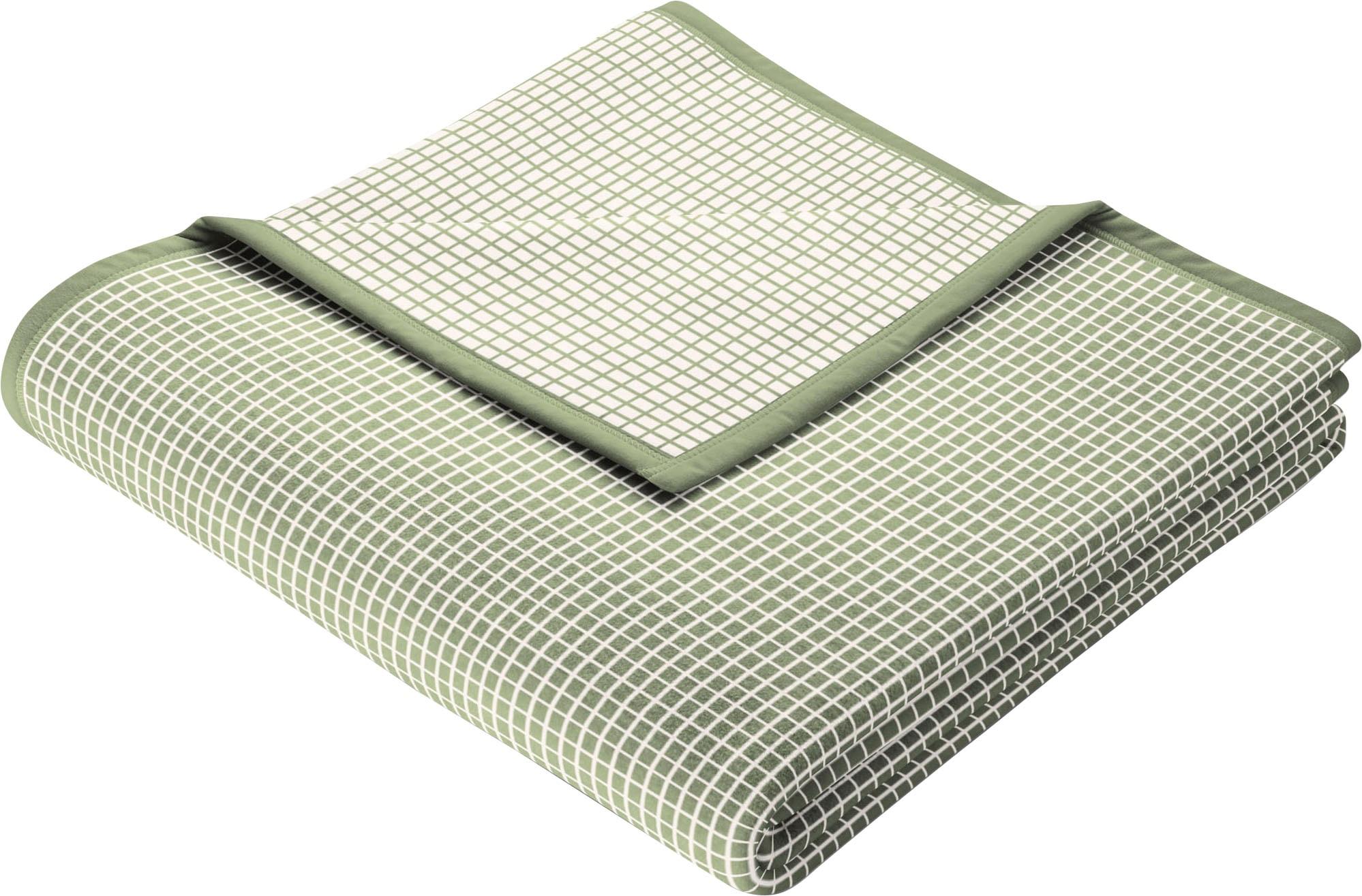BIEDERLACK Wohndecke New Cotton, leichte Webdecke grün Baumwolldecken Decken