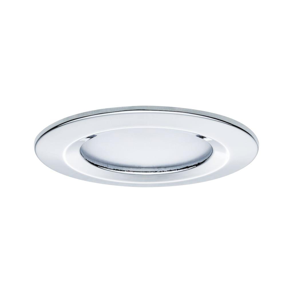 Paulmann LED Einbaustrahler »dimmbar IP44 rund Chrom Coin Slim 6,8W«, 3 St., Warmweiß