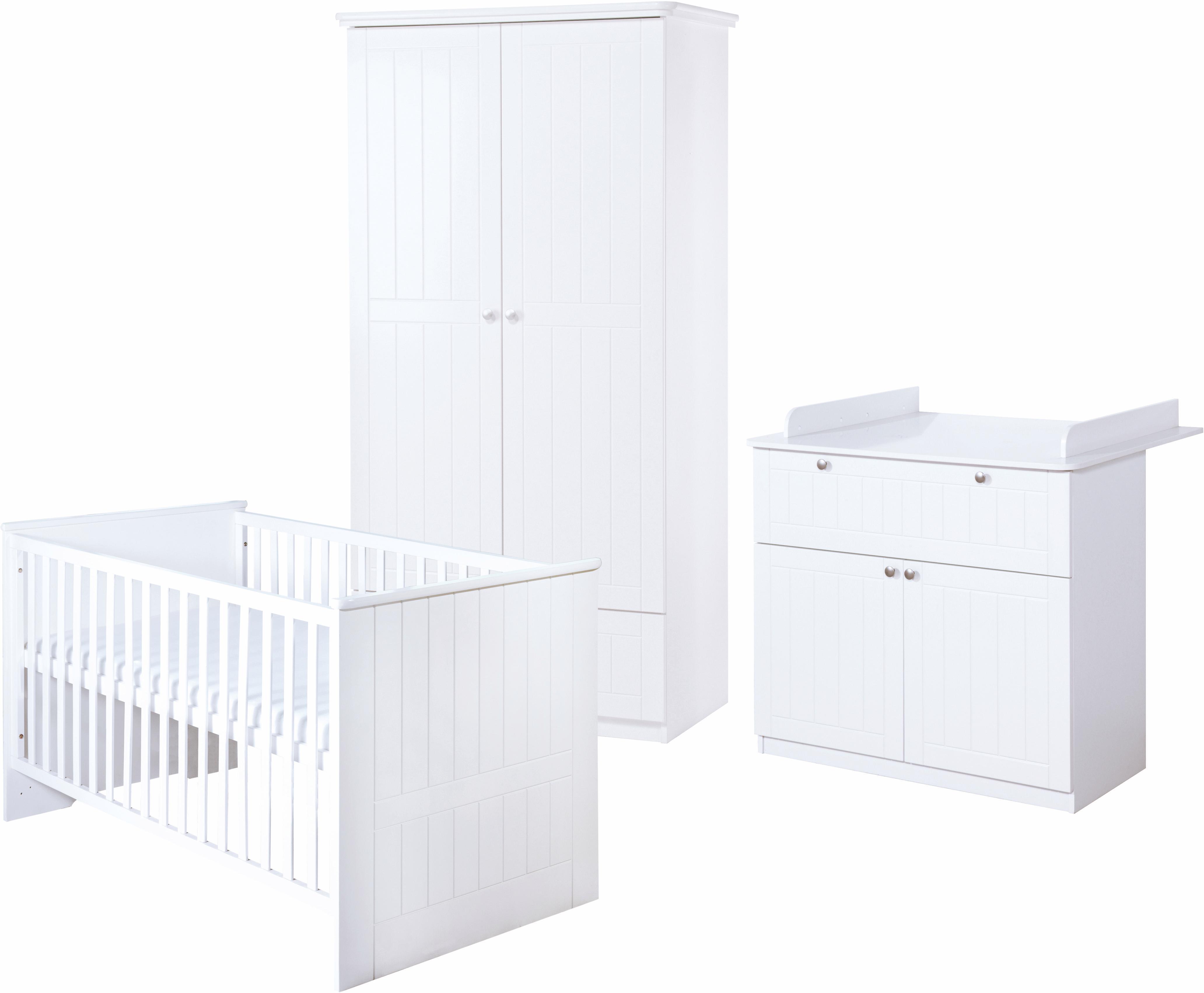 Roba Babyzimmer Set (3-tlg) Kinderzimmer Dreamworld 3 2-türig | Kinderzimmer > Babymöbel > Komplett-Babyzimmer | Weiß | Metall - Abs - Spanplatte - Mdf | Roba