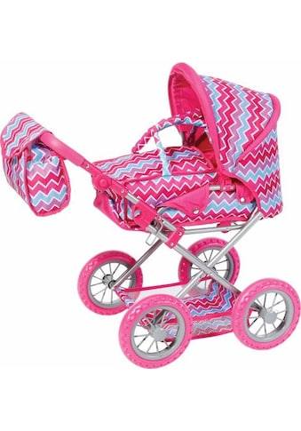 """Knorrtoys® Kombi - Puppenwagen """"Ruby, pink zigzag"""" kaufen"""