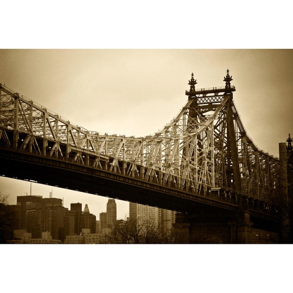 Papermoon Fototapete »New Yorker Brücke«, Vliestapete, hochwertiger Digitaldruck