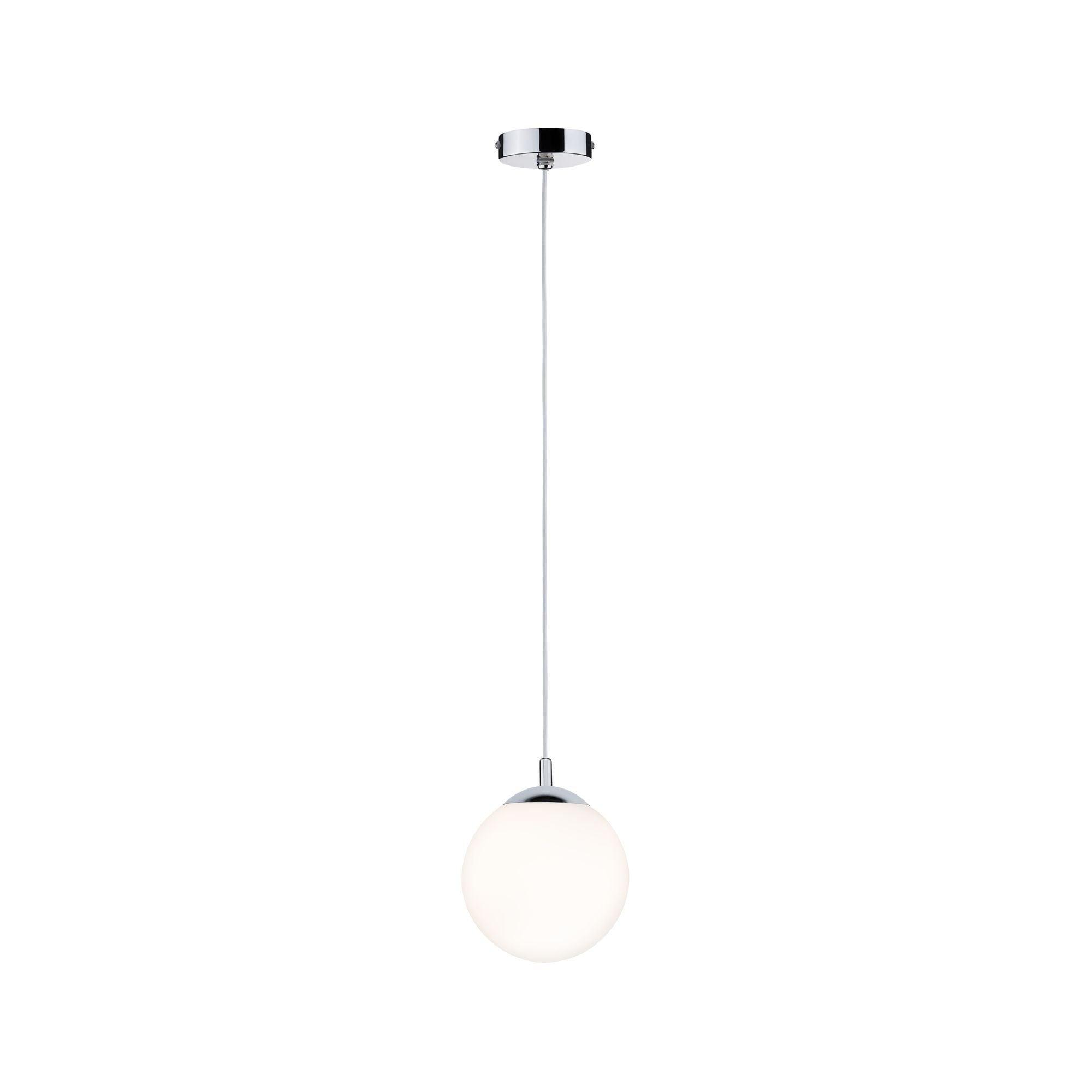 Paulmann LED Pendelleuchte Globe Satin/Chrom max. 20W E27, E27, 1 St.