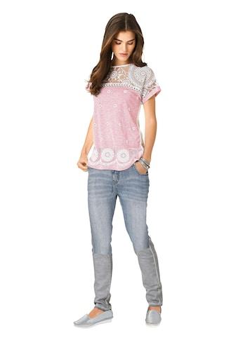 création L Longshirt mit ornamentalem Ausbrenner - Muster kaufen