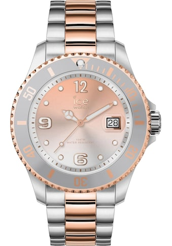 ice - watch Quarzuhr »ICE steel  -  Silver Sunset Rosegold  -  Medium  -  3H, 16769« kaufen