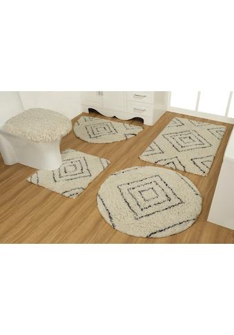 OTTO products Badematte »Estelle«, Höhe 40 mm, strapazierfähig, aus recycelter Baumwolle kaufen