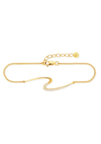 CAÏ Armband »925/- Sterling Silber vergoldet Topas«, Panzerkette kaufen