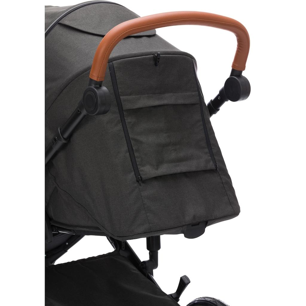 Fillikid Kombi-Kinderwagen »Tiger dunkelgrau melange«, 15 kg, ; Kinderwagen