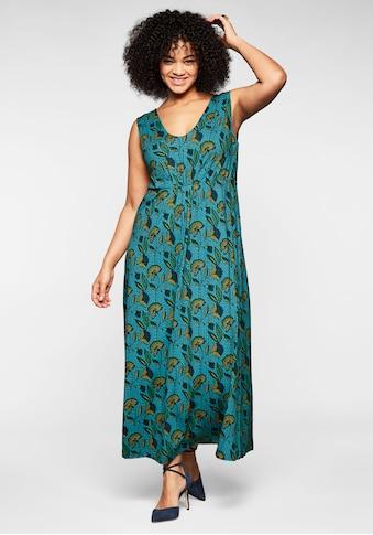 sheego by Joe Browns Sommerkleid, mit Alloverdruck und tiefem V-Ausschnitt kaufen
