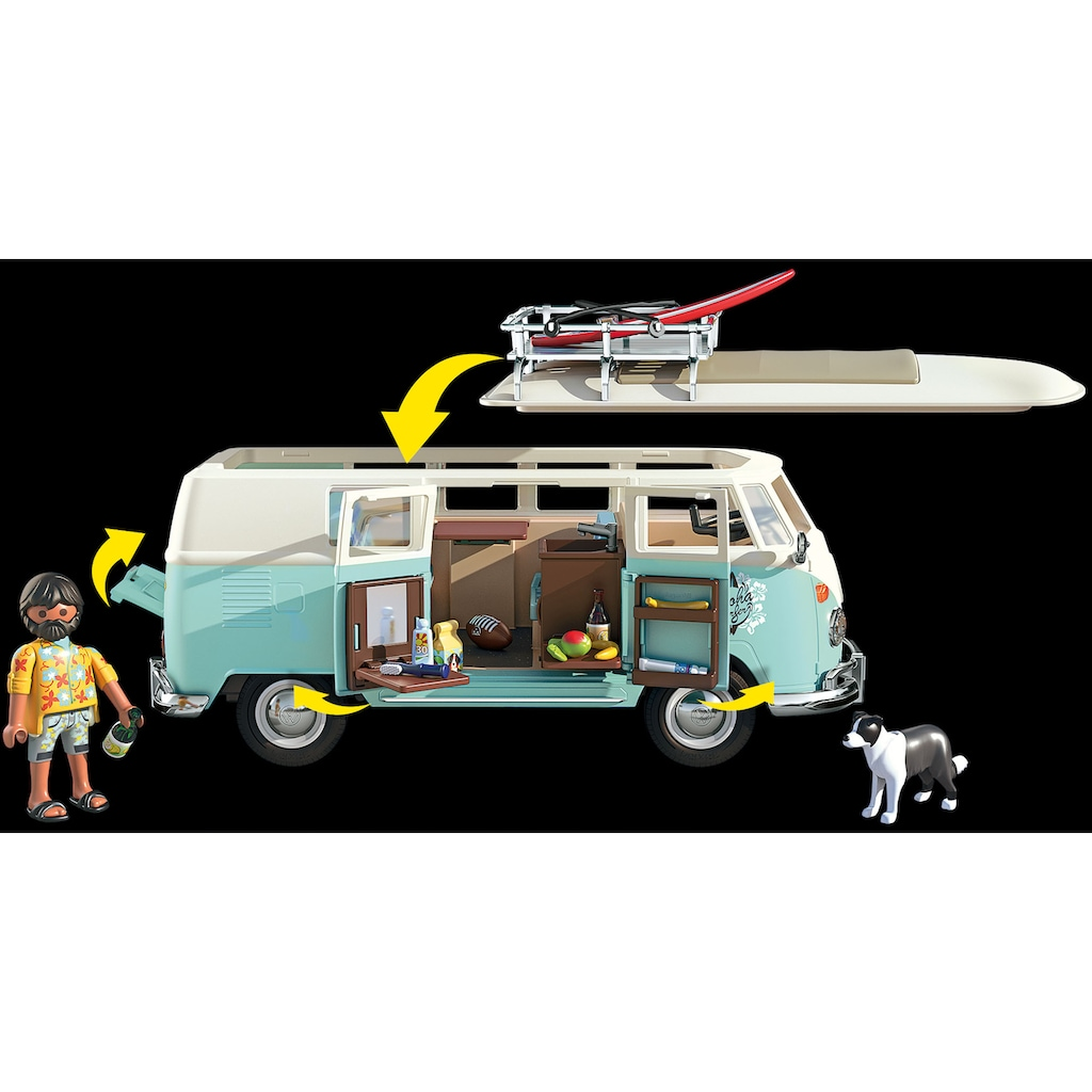 Playmobil® Konstruktions-Spielset »Volkswagen T1 Camping Bus - Special Edition (70826)«, Made in Germany