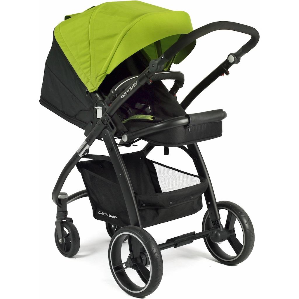 CHIC4BABY Kombi-Kinderwagen »Volare, grün-schwarz«, inklusive Sportsitz; Kinderwagen
