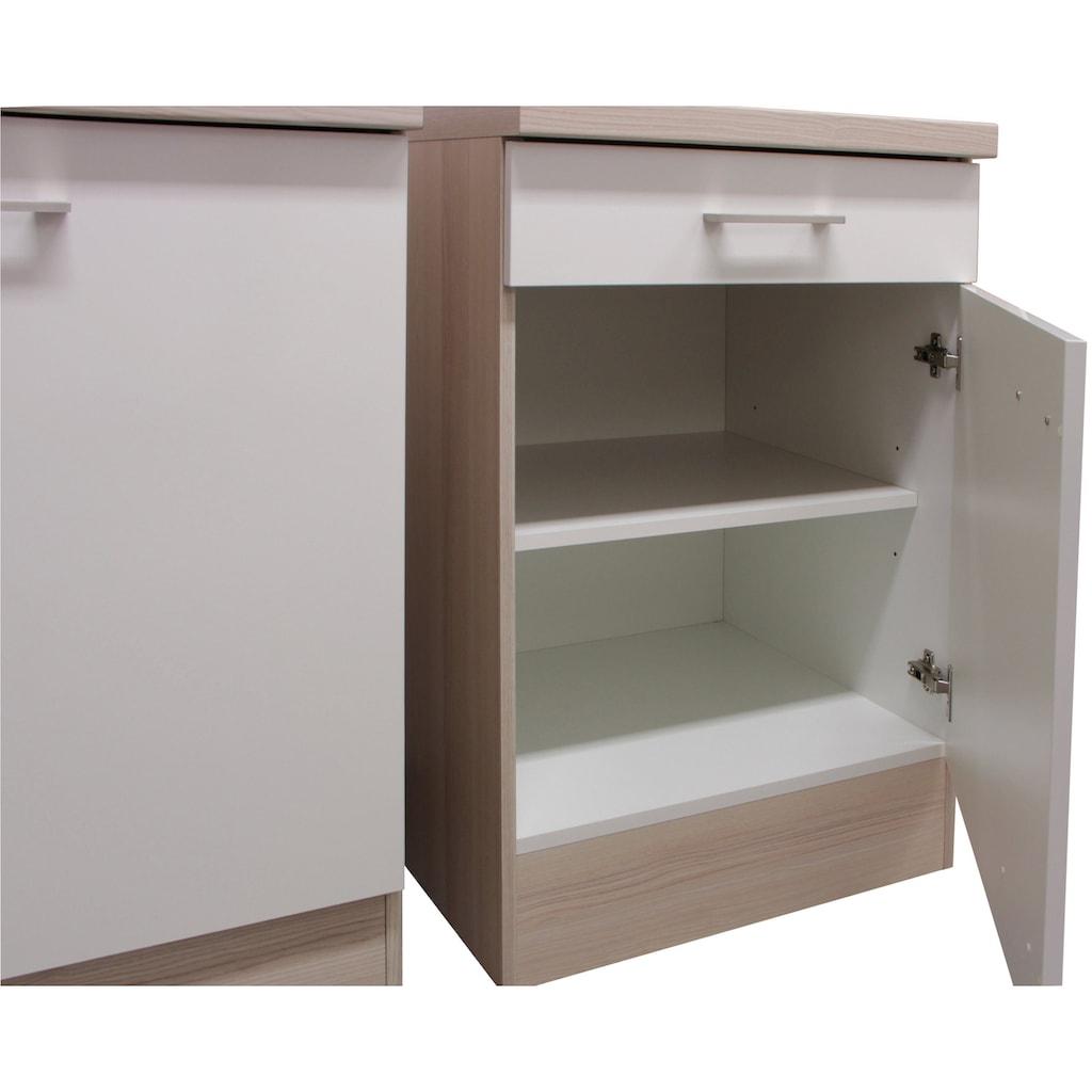 Flex-Well Küchenzeile »Abaco«, mit E-Geräten, Gesamtbreite 280 cm