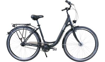 HAWK Bikes Cityrad »HAWK City Wave Easy Black«, 7 Gang, Shimano, Nexus Schaltwerk kaufen