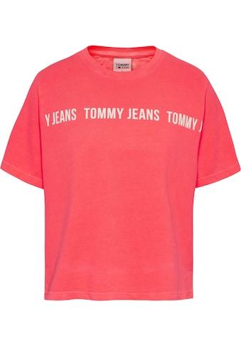 Tommy Jeans Rundhalsshirt »TJW BXY CROP TAPE SS TEE«, mit großem Tommy Jean... kaufen