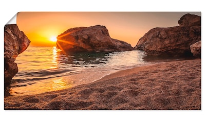 Artland Wandbild »Sonnenuntergang und Strand«, Strand, (1 St.), in vielen Größen &... kaufen