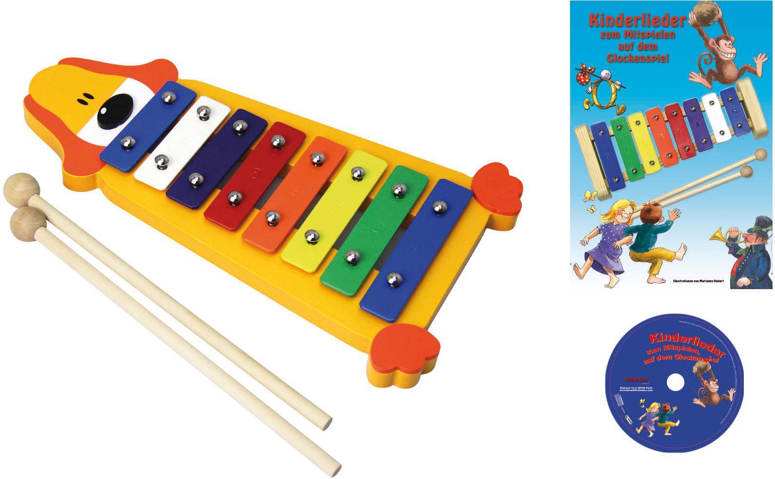 Clifton Spielzeug-Musikinstrument Metallophon Hund bunt Musikspielzeug Musikinstrumente Spielzeug-Musikinstrumente