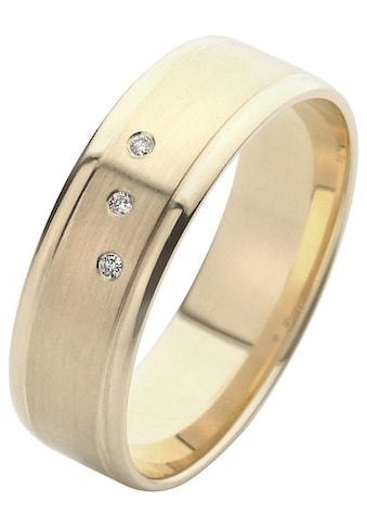 Firetti Trauring mit Gravur »glanz, seidenmatt, Diamantschnitt, 6,0 mm breit«, Made in... kaufen