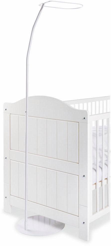 Pinolino Himmelstange, Fixmaß, mit Standfuß; Made in Europe weiß Himmelstange Gardinenstangen ohne Bohren Gardinen Vorhänge
