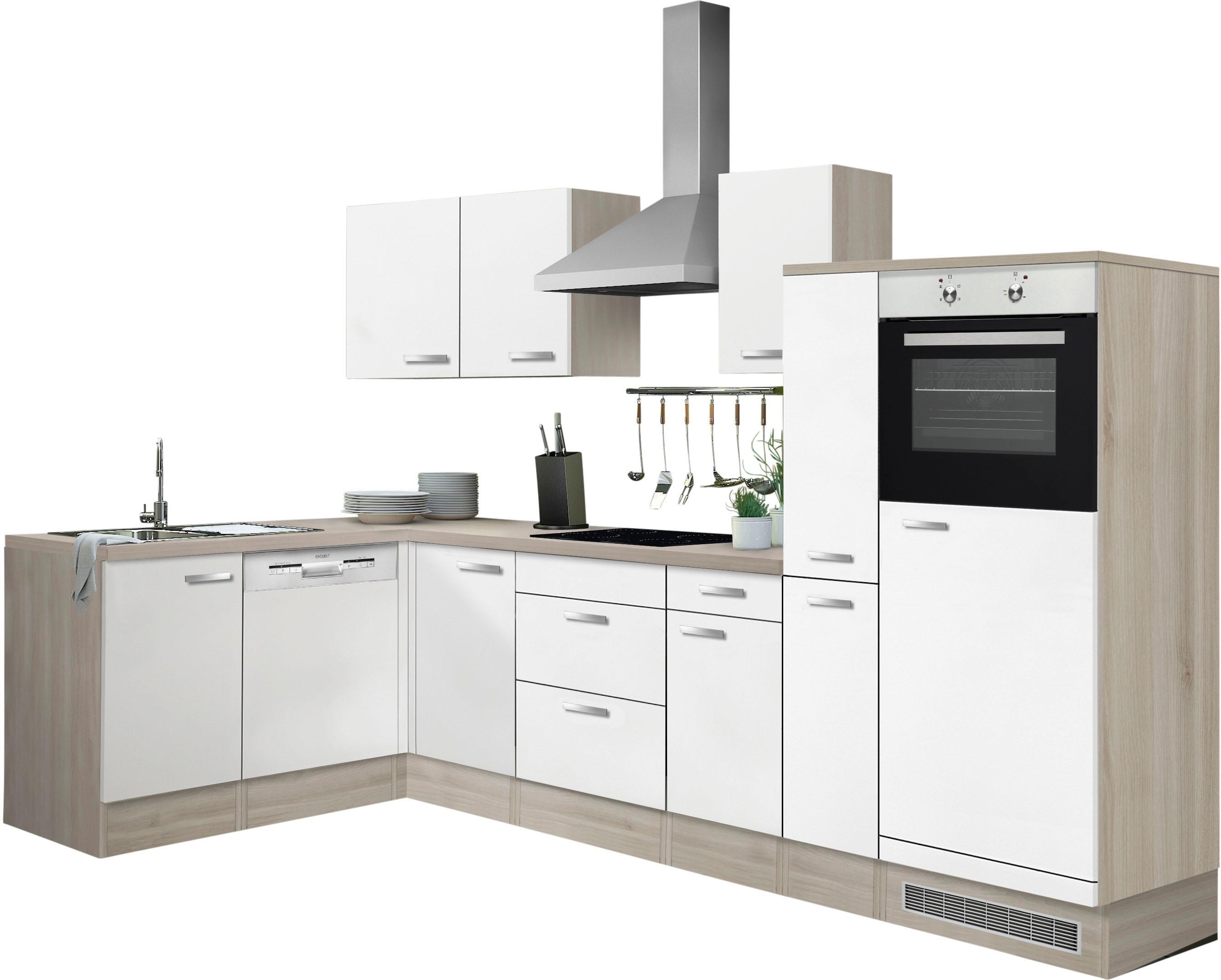 OPTIFIT Winkelküche Faro mit E-Geräten Stellbreite 300 x 175 cm