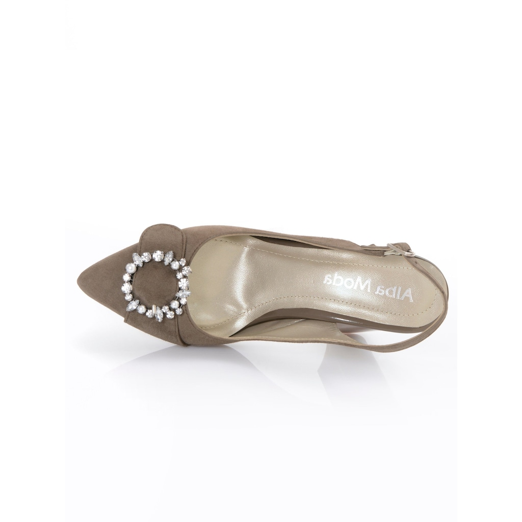 Alba Moda Slingpumps mit Schmuckschnalle auf der Schuhspitze