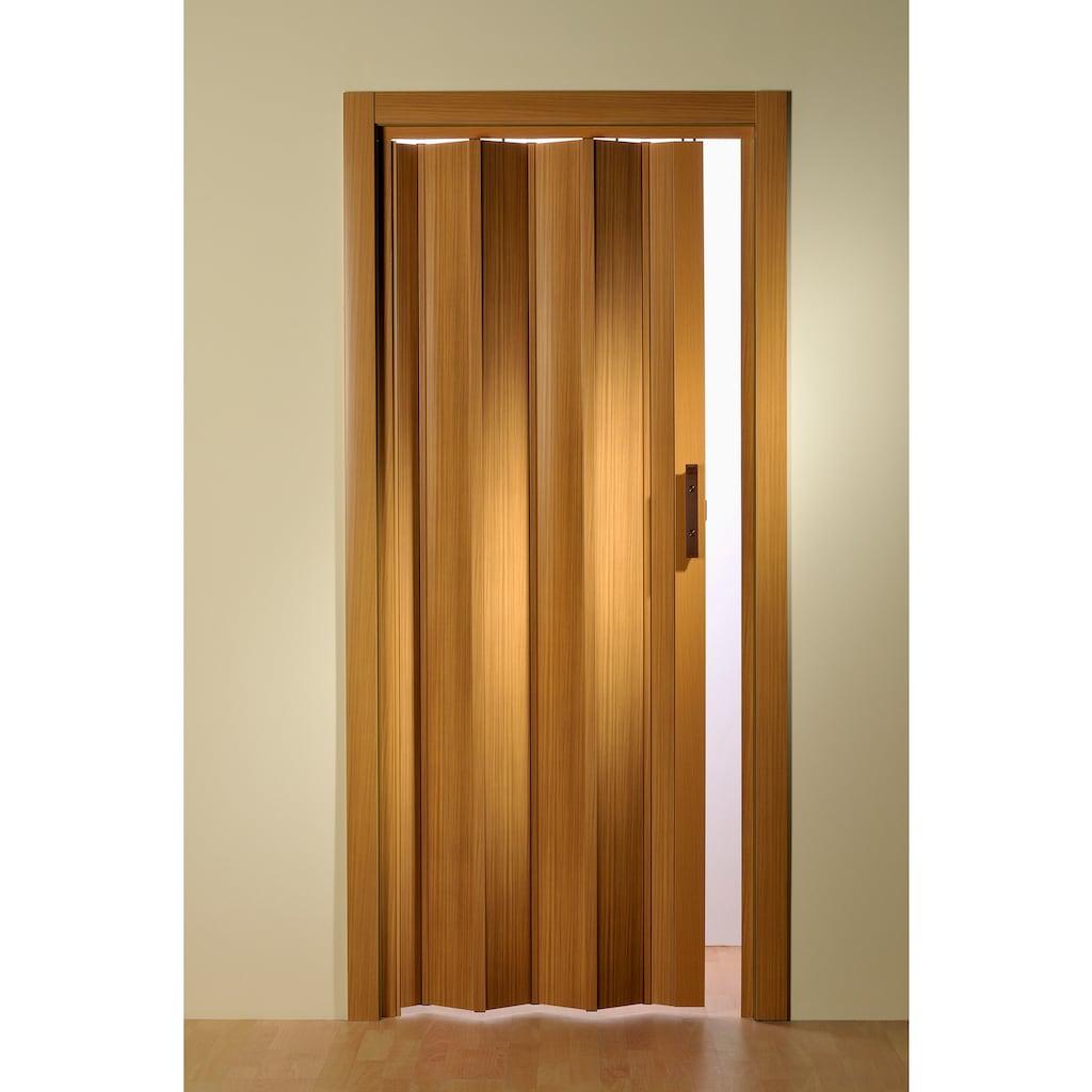 Falttür, Höhe nach Maß, Buchefarben ohne Fenster