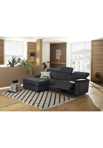 Home affaire Ecksofa »Binado«, Wahlweise mit manueller oder elektrischer Relaxfunktion mit USB-Anschluss, Federkern-Polsterung kaufen