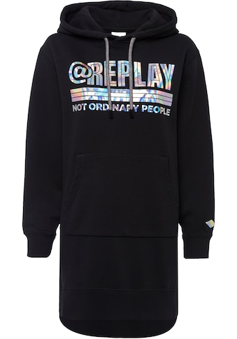 Replay Sweatkleid, mit dicker Kordel - Logo in Metallic-Optik kaufen
