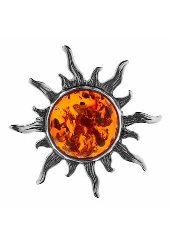 OSTSEE-SCHMUCK Brosche »- Sonne 28 mm - Silber 925/000 - Bernstein« kaufen
