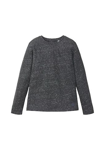 TOM TAILOR Langarmshirt »Langarmshirt im Mélange - Look« kaufen