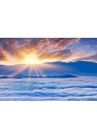 Papermoon Fototapete »Sonnenaufgang über Wolken«, Vliestapete, hochwertiger Digitaldruck kaufen