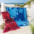 Delindo Lifestyle Strandtuch »Tropical Sonne«, (1 St.), Jacquard-gewebtes Motiv Sonne