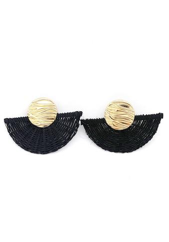 J.Jayz Paar Ohrclips »mit Struktur, in Fächer - Optik, vergoldet« kaufen