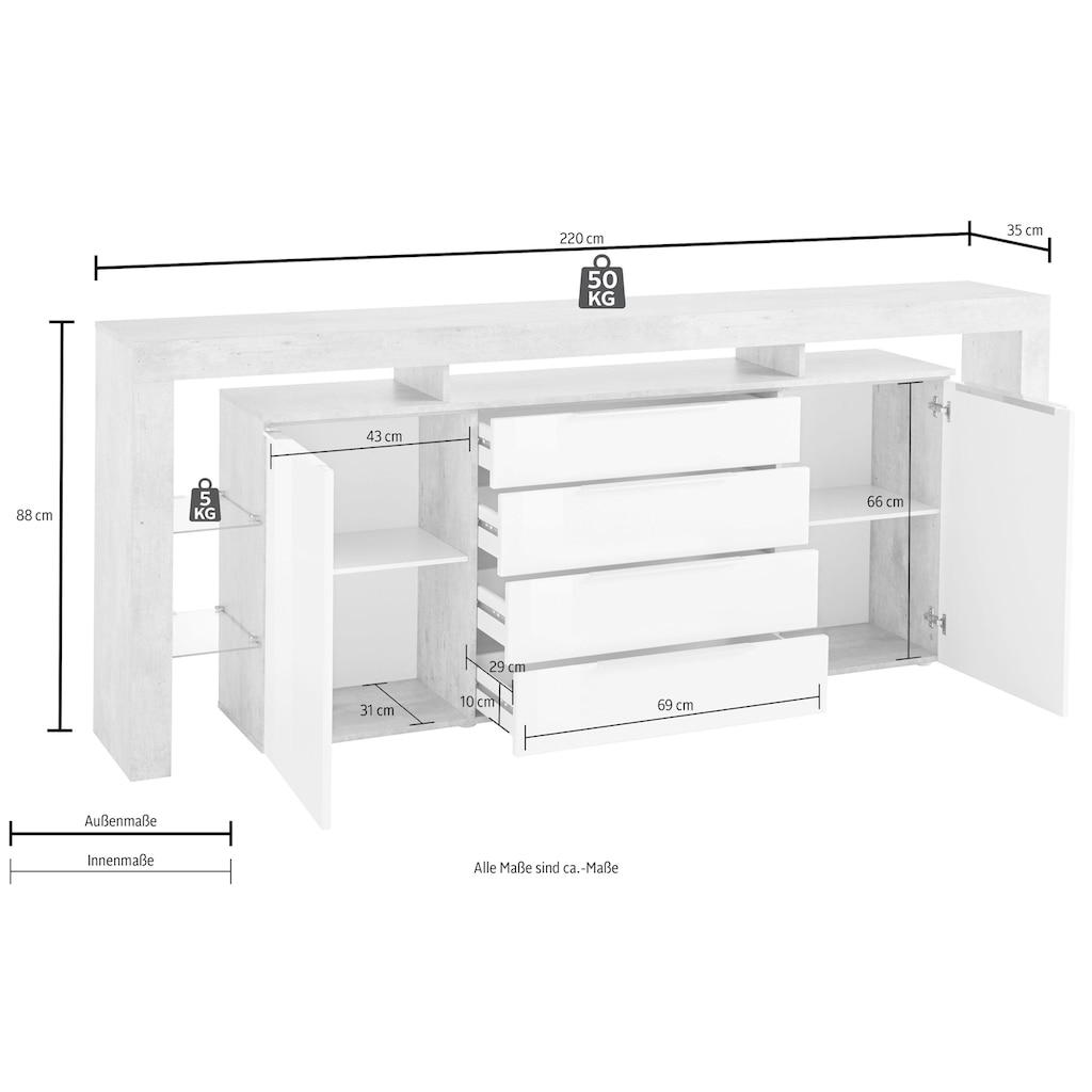 borchardt Möbel Sideboard »Lima«, Breite 220 cm